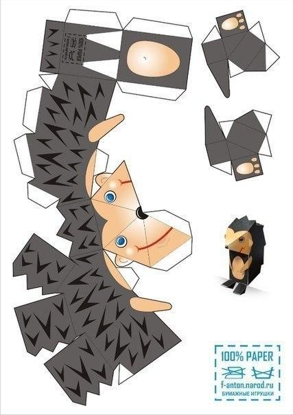 Животные своими руками из бумаги схемы