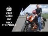 Fuck da police! МКАД 200kmh Honda CB 400 top speed and test KTM Duke 200   на Царевич.Ру