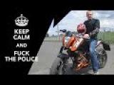 Fuck da police! МКАД 200kmh Honda CB 400 top speed and test KTM Duke 200   на Царевич.Ру