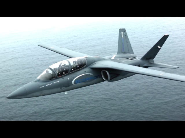 Textron AirLand - Scorpion Light Strike/ISR Fighter At RIAT 2015 [1080p]
