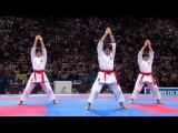(12) Karate Japan vs Italy. Final Female Team Kata. WKF World Karate Championships 2012