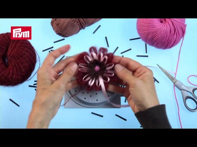 Stricken mit Strickrahmen Das Prym Loom Gerät als Strickhilfe