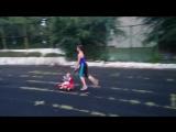 Вот так я тренируюсь ### Тренировки с малышом###Фитнес мама### Прогулка с ребенком