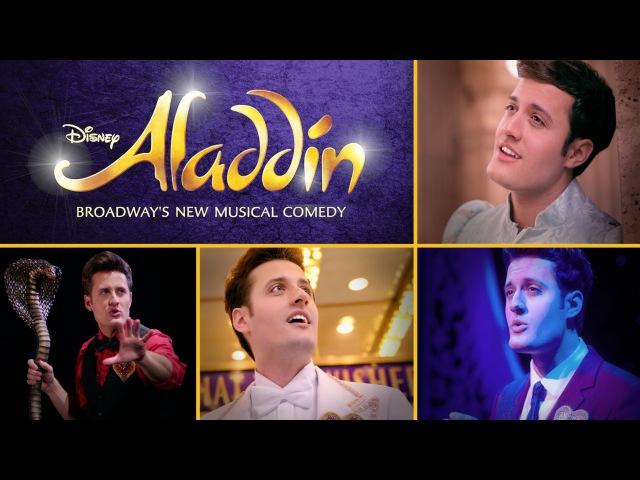 Nick Pitera's One-Man Tribute to Aladdin on Broadway | Oh My Disney
