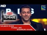 Salman Khan poses like Shahrukh Khan Comedy - 60th Filmfare Awards 2014