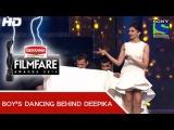 Boys dance behind Deepika Comedy - 60th Filmfare Awards 2014