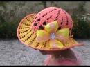 Очень красивая летняя шляпка Часть nice summer hat Part 2