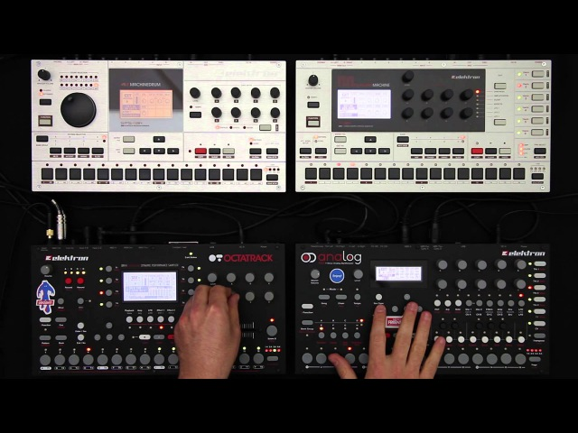 Elektron Jam Session 1: Analog Four, Octatrack, Machinedrum Monomachine
