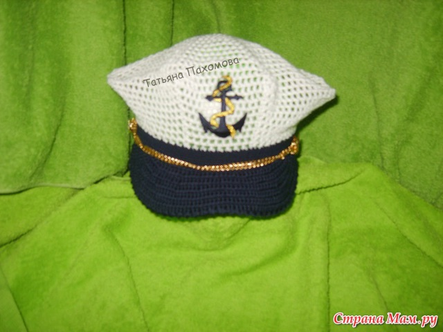 Капитанская фуражка крючком Мастер класс Crochet peaked cap for Boys tutorial