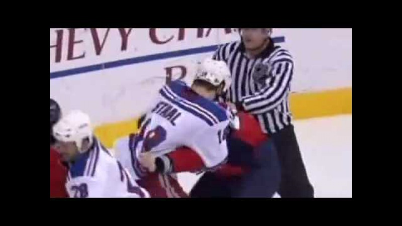 Semin fights M. Staal - first slap fight in NHL history