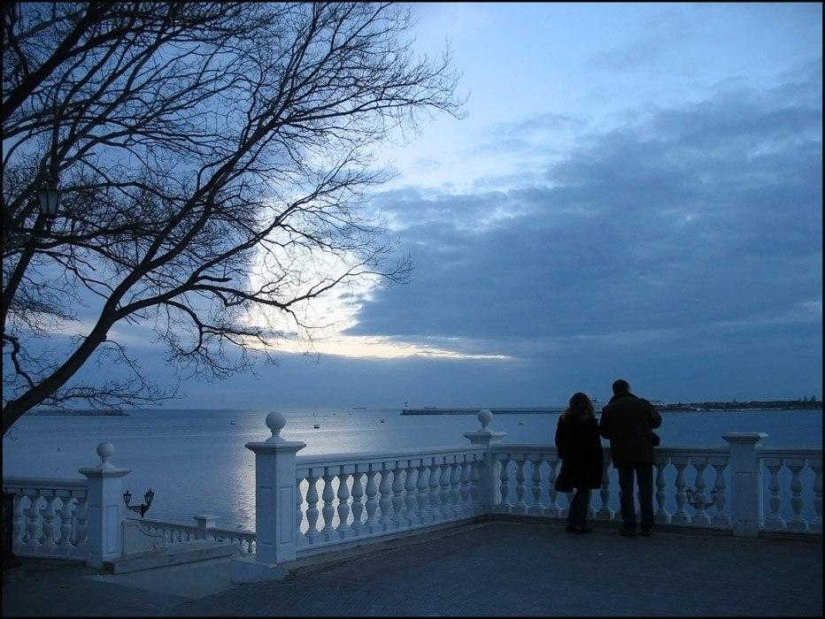 Зимний вечер. Севастополь.
