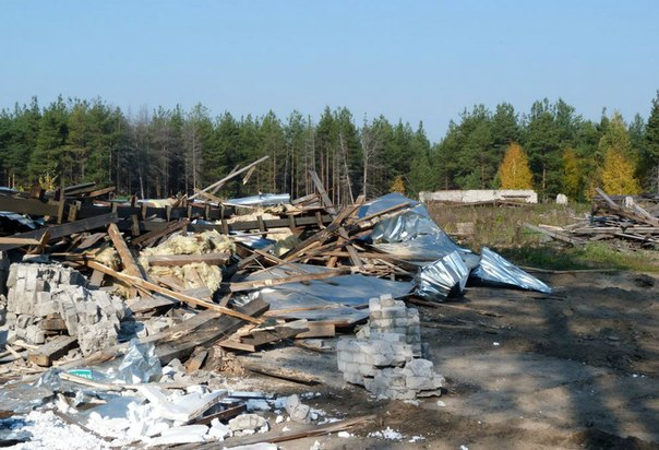 Снос лесопилки в Демьяново фото