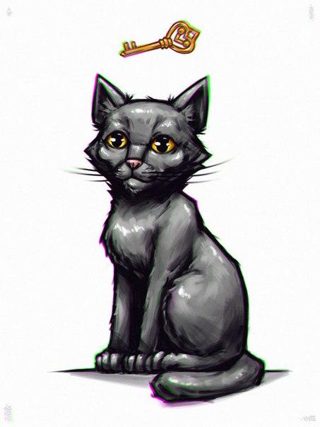 Картинка кота полночь