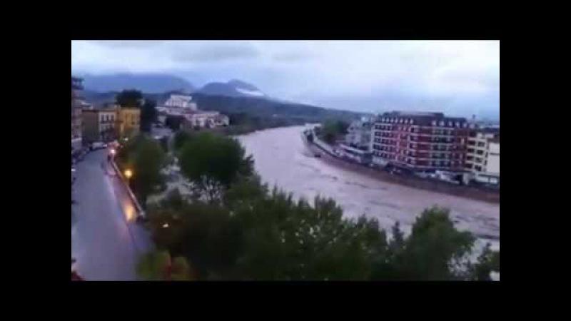 Maltempo in Campania, disastro nella città di Benevento