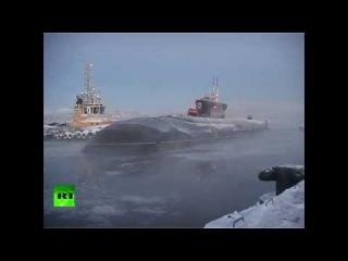 «Владимир Мономах» прибыл в расположение подводных сил Северного флота (30.12.2014)