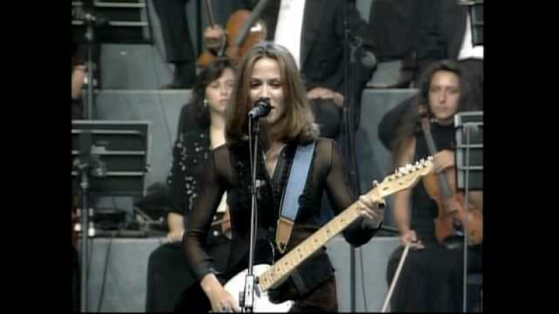 Sheryl Crow and Eric Clapton - Run Baby Run - Pavarotti and Friends - 1996 - live