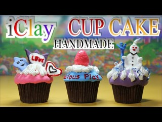 DIY iClay (Play-Doh) CUP CAKE kit handmade - Kids kitchen Playground Unboxing