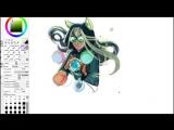 Drawing process  Jade Harley -- Homestuck