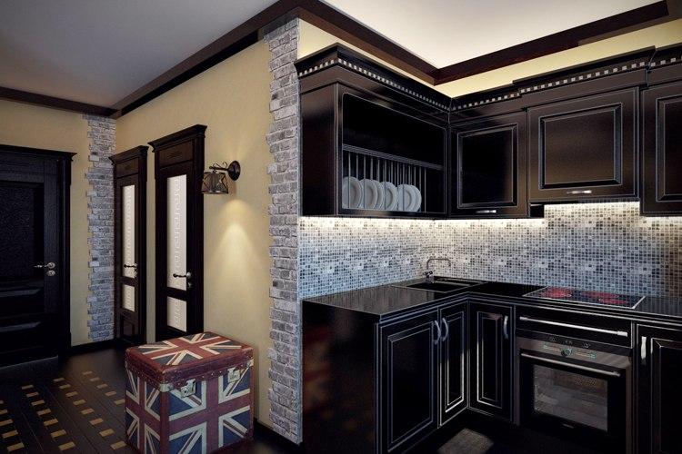 Квартира почти 32 м «для брутального холостяка», как охарактеризовала свой проект дизайнер Мария Суздальцева, Москва.