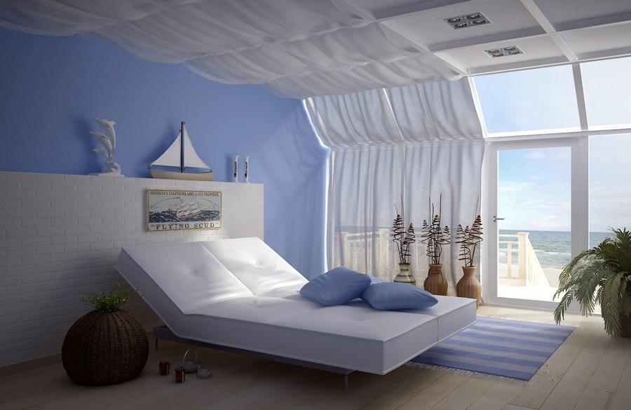 комната в морском стиле фото, спальня в морском стиле фото, морской стиль в интерьере фото