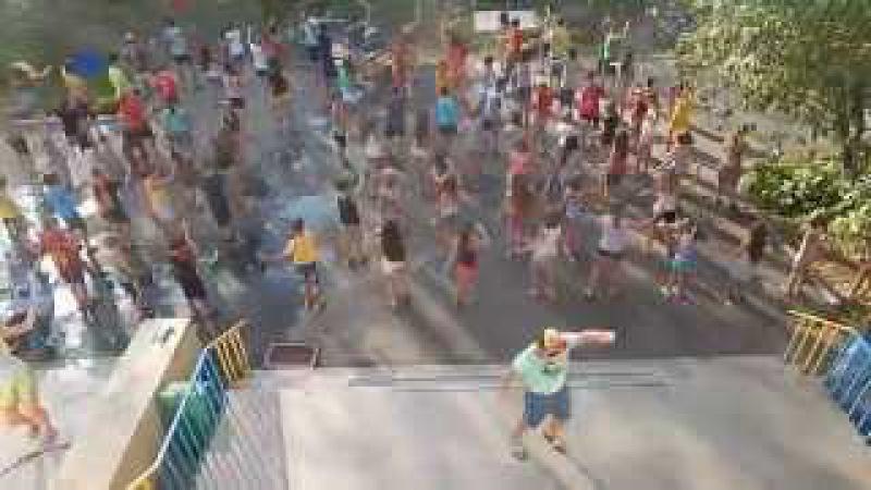 Танцевальная зарядка санаторий Мрія г Черкассы 3 смена лето 2014