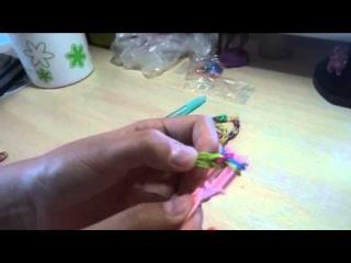 Как плести браслет из резиночек  , самый простой браслет . урок №1