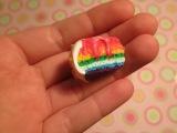М.К. Радужный торт из полимерной глины
