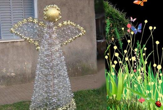 поделки своими руками для сада и огорода фото