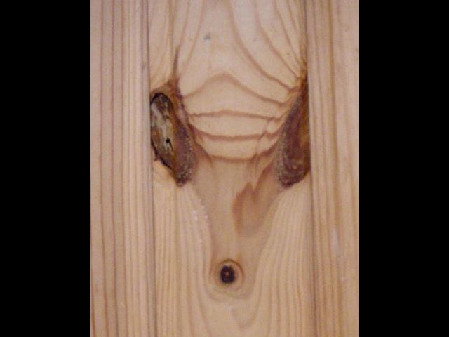 Как удалить сучки и смоляные карманы в древесине