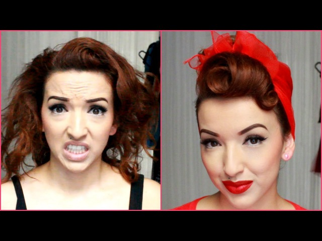 My Go To Quick Pinup Hair Style - Nasty to Classy