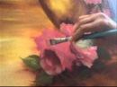 Pintando Rosas - PARTE 1 - Óleo sobre tela, por Shirley Sbeghen.