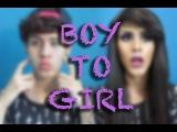 Boy to girl transformation / Maquillaje de niño a niña. ♡