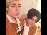 Just a casual party for two #losers #eruri #snkcosplay #shingekinokyojin #Levi #erwinsmith #SnK #aot #sorryworld