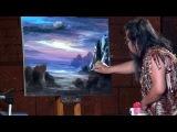 Тайский художник картина за 10 минут. Painting for 10 minutes
