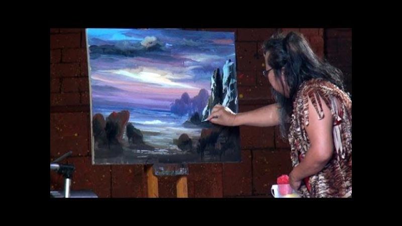 Тайский художник: картина за 10 минут. Painting for 10 minutes