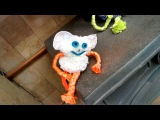 Gremlins Halloween - Funny Gremlin project made from a plastic bag Pom Poms