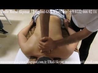 Back massage training - массаж спины - Turkish masseur Murat - Турецкая массажист istanbul - masaj masör murat
