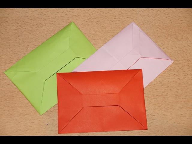 Конверт оригами из бумаги схема сборки Origami paper envelope assembly diagram