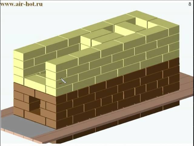 Отопительная печь 51х140 см В.Быкова