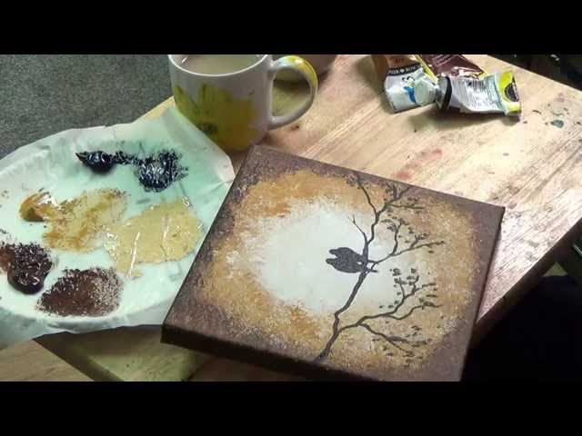 Beginners Acrylic Painting Tutorial- Autum Birds On A Branch