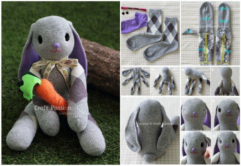 Как из носка сделать игрушку