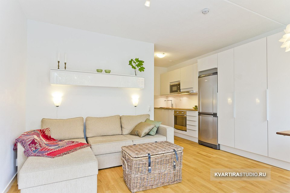 Антизонирование квартиры-студии 24 м в Уппсале / Швеция - http://kvartirastudio.