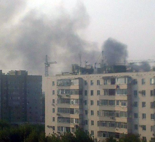 Вчера в Таганроге на улице Сызранова произошел пожар