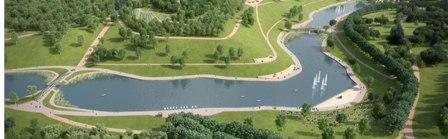 Парк Олимпийской деревни станет полноценной зоной спорта и отдыха осенью 2015 года