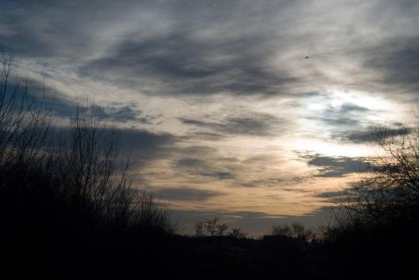 небо, облака, солнце
