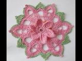 Салфетка, украшение на банку Вязание крючком Crochet Napkin