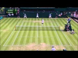 Roger Federer hits amazing tweener lob against Sam Querrey - Wimbledon 2015 - 2nd Round - HD
