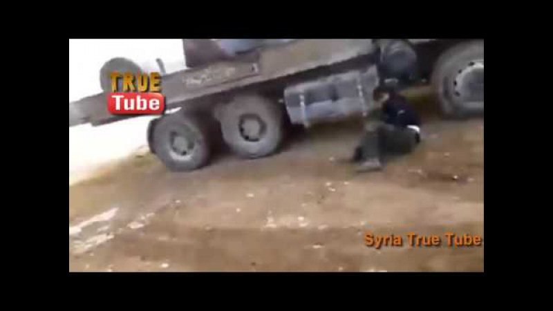 Militants Mounted 57mm Gun explodes while firing killing the Shooter