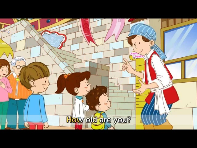 [Age] How old are you? I'm five years old. - Easy Dialogue - English cartoon with subtitles.