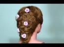 Вечерняя прическа для длинных волос. Wedding prom hairstyle